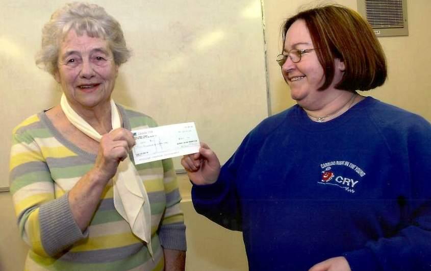 Maybury cheque handover