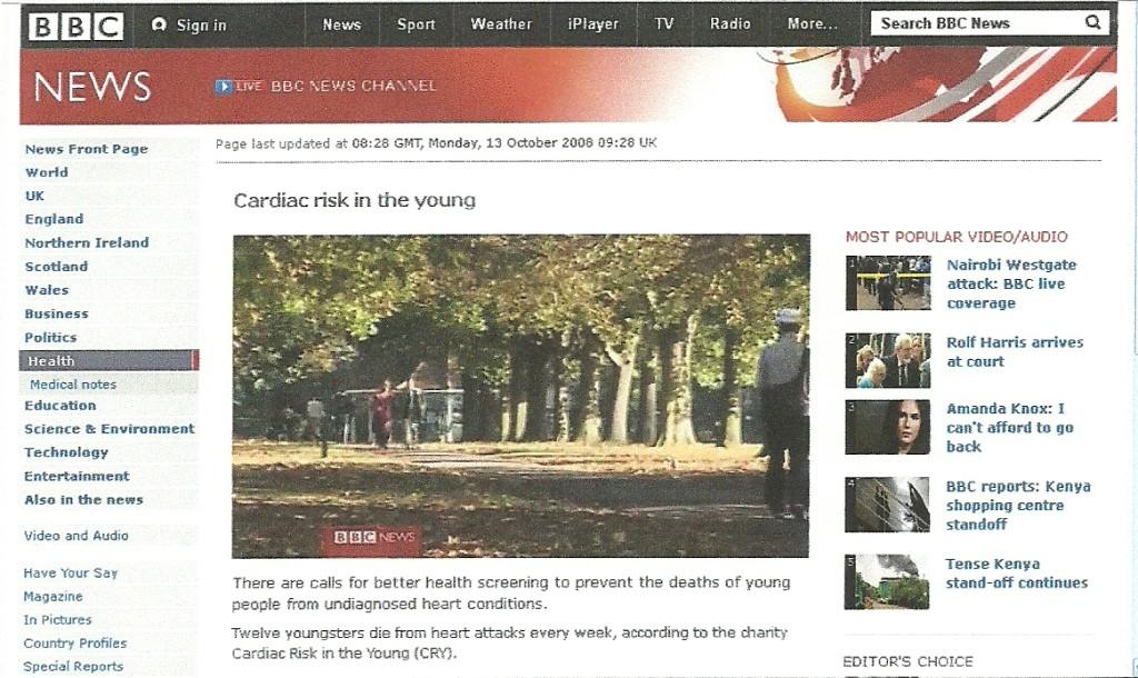 Claire Prosser on BBC Breakfast News