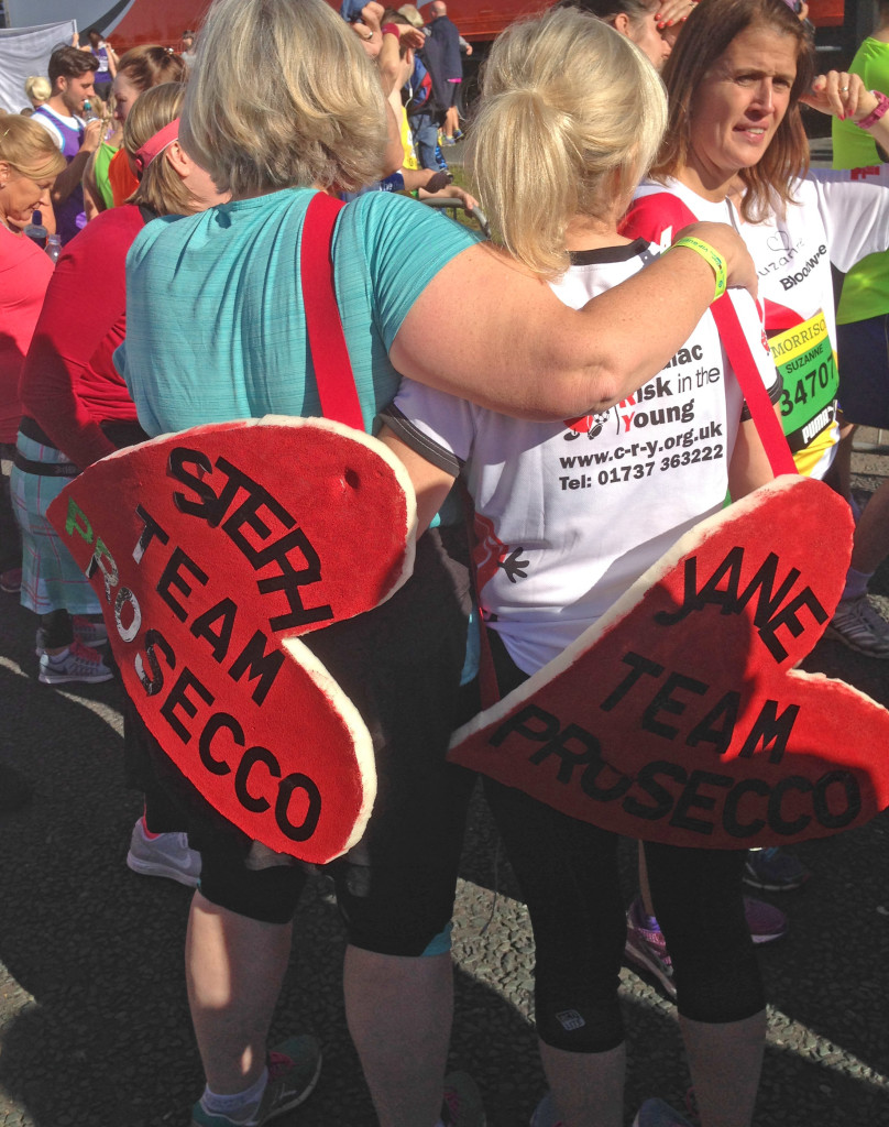 Stephanie Marshall and Jane Kinghorn, Great North Run for CRY